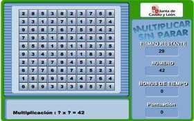 Practica las tablas de multiplicar